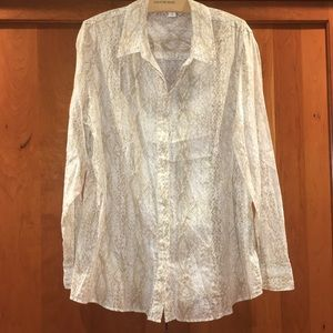 Coldwater Creek Plus Size Snakeskin Shirt 1X